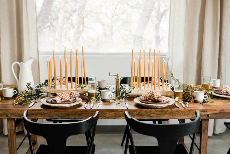 Rustic Style Thanksgiving Dining Table Design Ideas